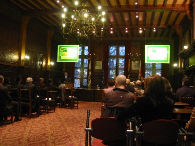 In the Town-Hall of the city of Hasselt (Belgium), on the occasion of the book presentation of the second volume in the Jacques Delors Master-class book series on Thursday January 25, 2007!!